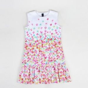 Oscar de La Renta white floral low waist dress 12y